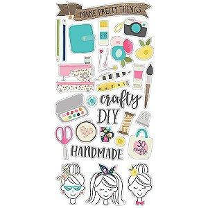 Adesivos chipboard 15x30 Crafty Girl Simple Stories