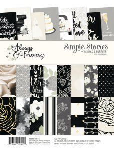 Bloco 15x20 Aways and Forever 24 folhas dupla-face Simple Stories