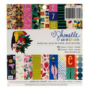 Bloco 15x15 Box of Crayons 36 folhas, Shimelle American Crafts