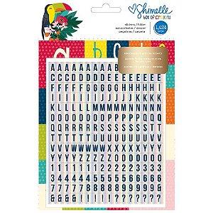 Adesivos Box of Crayons, alguns com Foil,  1424 peças Shimelle American Crafts