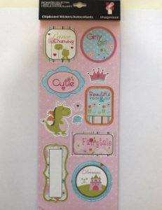 Adesivos chipboard Enchanted - Imaginisce