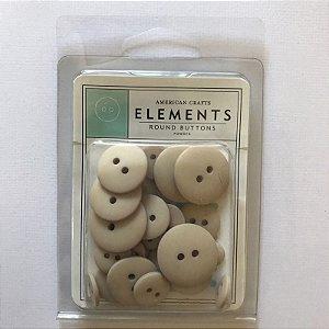 Botões Powder cinza American Crafts