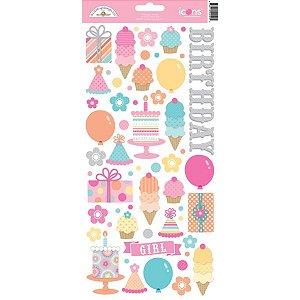 Adesivos 15x30 Sugar Shoppe Doodlebug