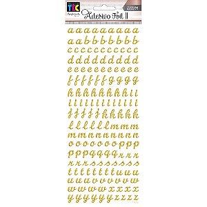 Adesivo Foil II Dourado Alfabeto Minúsculo TEC