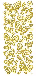 Adesivo Foil II Dourado Borboletas TEC