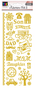 Adesivo Foil II Dourado Sweet Home TEC