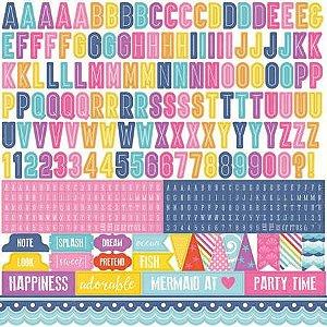 Adesivos Alfabeto 30x30 Lets be Mermaids Echo Park