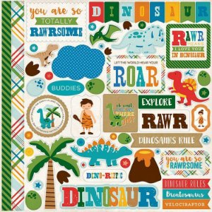 Adesivo 30x30,5 cm Dino Friends - Echo Park