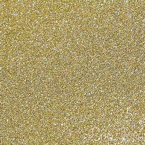 Kit 2 folhas 30x30 puro glitter Dourado Art e Montagem
