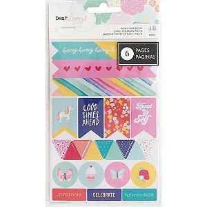 Kit de adesivos Stay Colorful, Dear Lizzy, com 6 cartelas, American Crafts