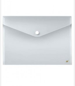 Envelope plástico tamanho A4 com botão Yes