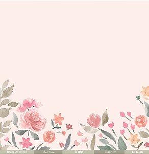 Papel para scrapbook - 30x30 Coleção Felizes para sempre - Amor eterno - Juju Scrapbook