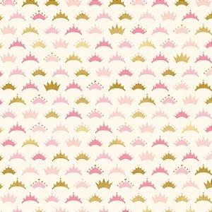 Papel scrapbook 30x30 Penelope (Princesa) - Crowned - Coroa - Foil dourado - My Mind`s Eye