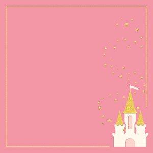 Papel scrapbook 30x30 Penelope (Princesa) - Dreams come true - Com glitter - My Mind`s Eye