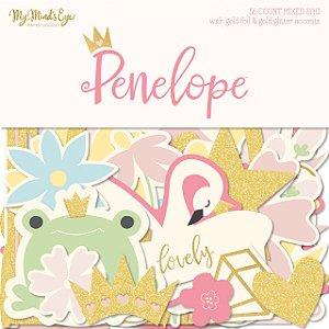 Die cuts Penelope (Princesa) - com foil e glitter - My Mind`s Eye
