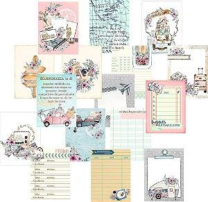 Kit de cards coleção Travel Girl - Dany Peres