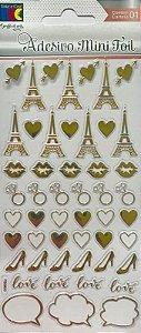 Adesivo Mini Foil Dourado Acessórios Femininos - TEC