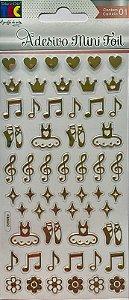 Adesivo Mini Foil Dourado Bailarina - TEC