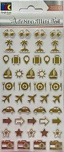 Adesivo Mini Foil Dourado Viagem - TEC