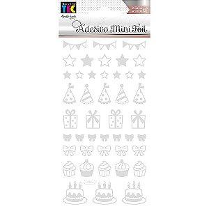 Adesivo Mini Foil Prata Festa - TEC