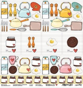 Papel para scrapbook - 30x30 Kitchen & Co - Cozinha - Salt & Pepper- Goodies