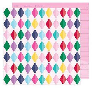 Papel scrapbook 30x30 Dream Big - Glitter Girl - Shimelle - American Crafts