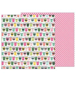 Papel scrapbook 30x30 Soda Shop - Girl Squad - American Crafts