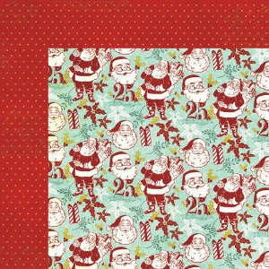 Papel scrapbook 30x30 Santas - Mistletoe Magic- Natal - MME
