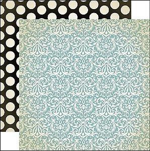 Papel scrapbook 30x30 Violets are blue  - Amour - Carta Bella