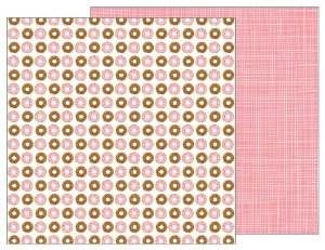 Papel scrapbook 30x30 My Funny Valentine - Donut Sprinkles - Pebbles