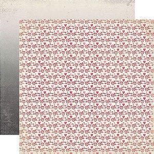 Papel scrapbook 30x30 Head over Heels - Tandem - Amor - Echo Park