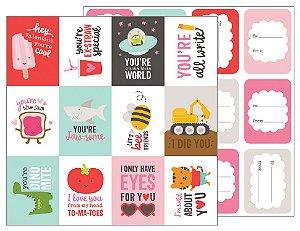 Papel scrapbook 30x30 My Funny Valentine - Funny Valentines - Amor - Pebbles