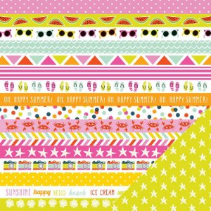 Papel Scrapbook 30x30 - Sunny - Hello Sunshine - Imaginisce