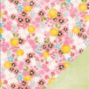 Papel Scrapbook 30x30 - Garden Party - Rosebud - Pebbles