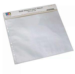 Refil plástico liso para álbum grande - Toke e Crie
