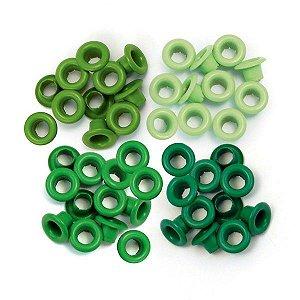 Ilhoses de alumínio tons verde - We R