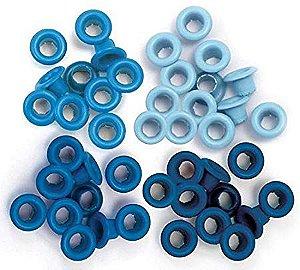 Ilhoses de alumínio tons Azul - We R