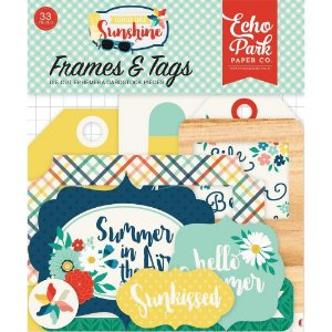 Die cuts Frames & Tags - Good Day Sunshine - Verão - Echo Park