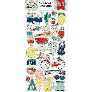Chipboard Accents - Good Day Sunshine - Verão - Echo Park