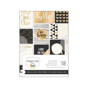 Cards Good as Gold - Foil dourado - Project Life