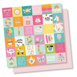 Papel de scrapbook 30x30 Dream Big - 2x2 Elements - Simple Stories