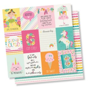Papel de scrapbook 30x30 Dream Big - 3x4 Elements - Simple Stories