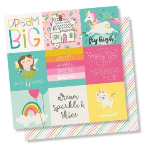 Papel de scrapbook 30x30 Dream Big - 4x4 Elements - Simple Stories
