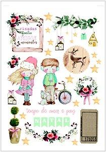 Adesivos Nat e Noel Natal  - Dany Peres