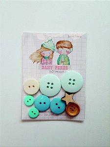 Kit de botões Noel Menino  - Dany Peres