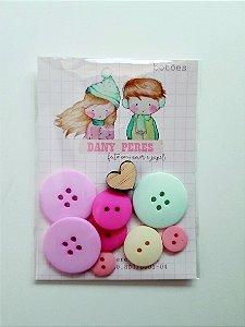 Kit de botões Nat Menina  - Dany Peres