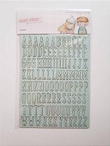 Adesivos chipboard alfabeto Noel Menino  - Dany Peres