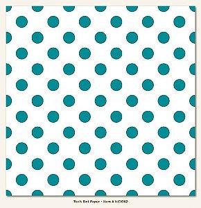 Papel de Scrapbook 30,5x30,5 cm - Face Simples - Teals Dot - My Minds Eye