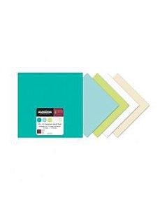 Bloco Papeis de Scrapbook - Cardstock - Bazzil - Honeydew - Creative Imaginations
