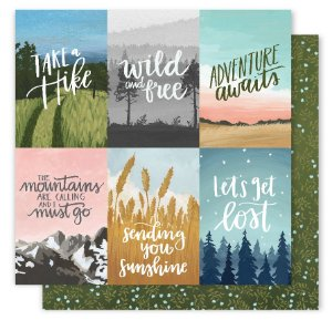 Papel Scrapbook - 30x30 - Creekside - Wise Words  - American Crafts